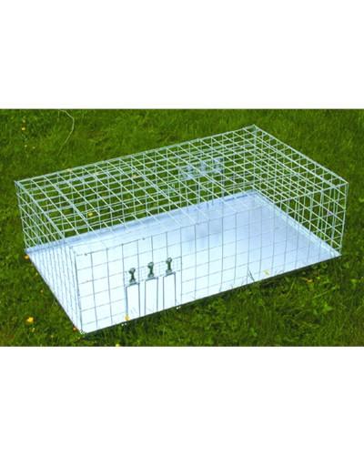 CAGE A PIGEONS MULTIPRISE 2 portes socle tôle 90 x 60 x 30cm