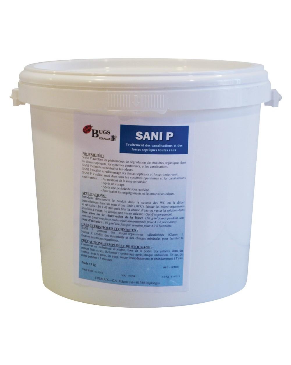 SANI P 5 Traitement des fosses septiques en 5 kg