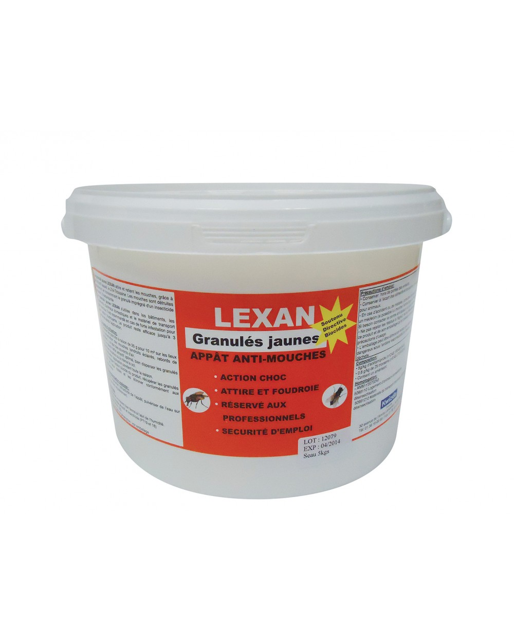 LEXAN GRANULES JAUNES en 5kg