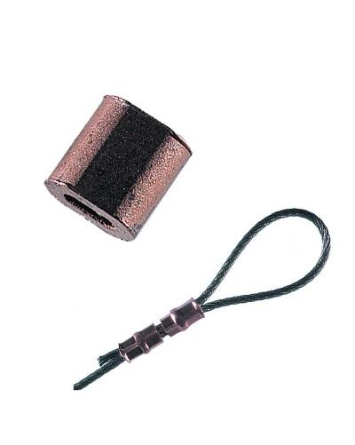 MANCHON A SERTIR CUIVRE 1,2mm LOT DE 100