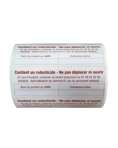 ETIQUETTES MENTIONS OBLIGATOIRES LOT DE 500